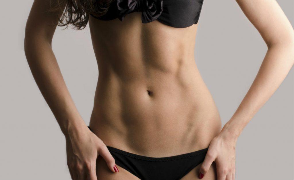 Woman lean stomach