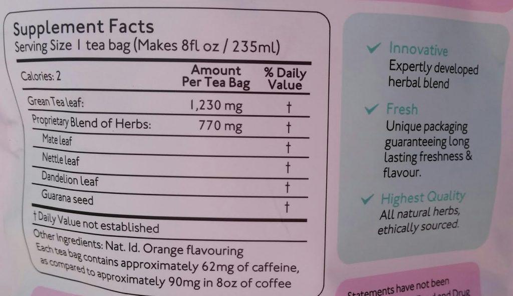 Skinnymint ingredients
